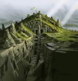 Nordische Hügelgrab-Ruine